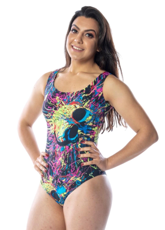BODY FEMININO CAVEIRA MEXICANA