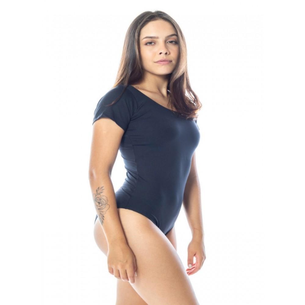 BODY FEMININO LISO POLIAMIDA