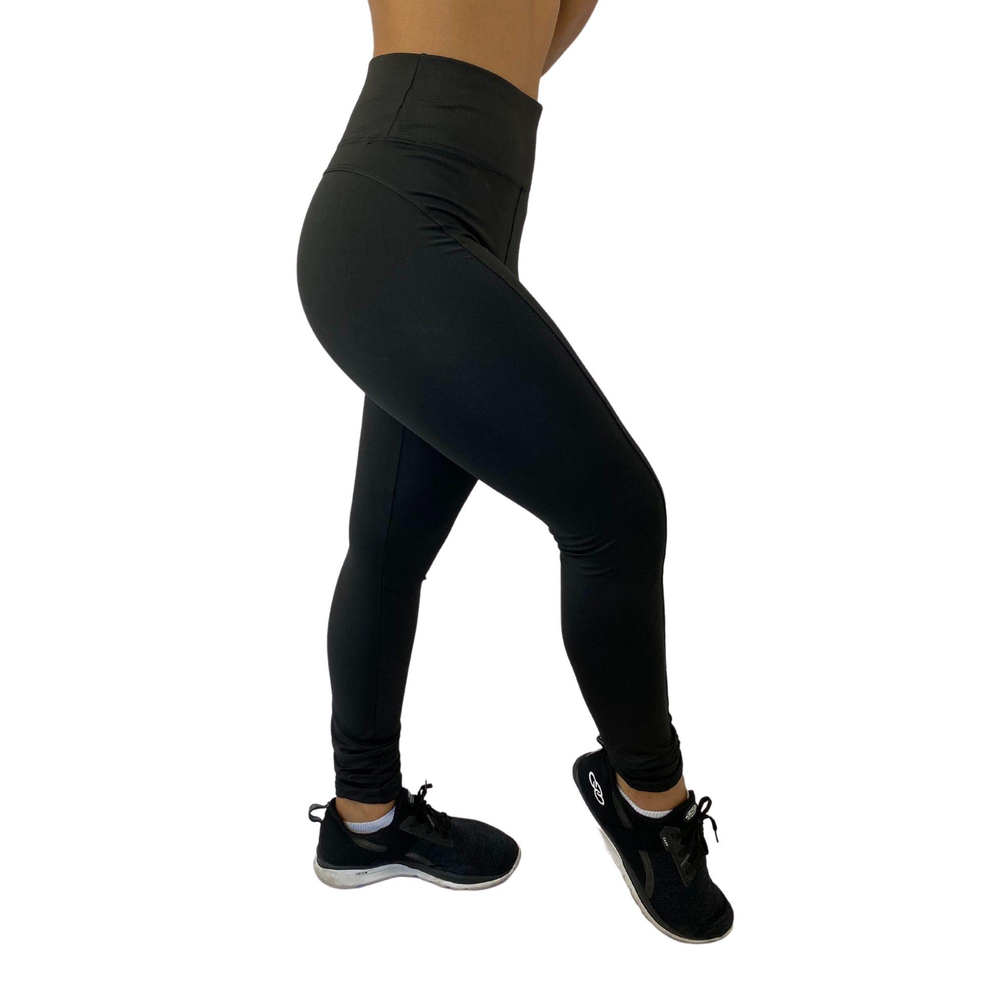 Calça Legging Montaria Suplex Poliéster Preta