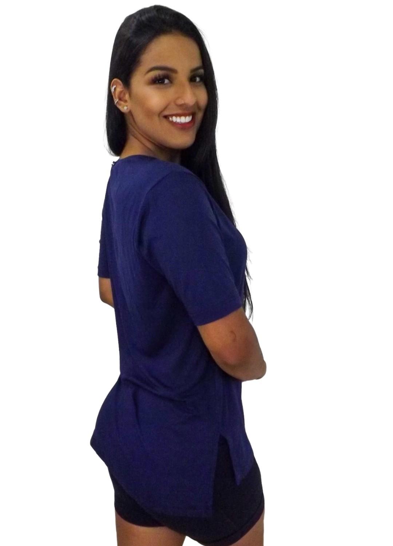 Camiseta Tapa Bumbum Manga Curta Azul Marinho