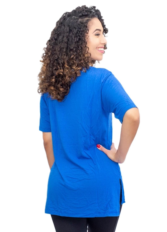 Camiseta Tapa Bumbum Manga Curta Azul Royal