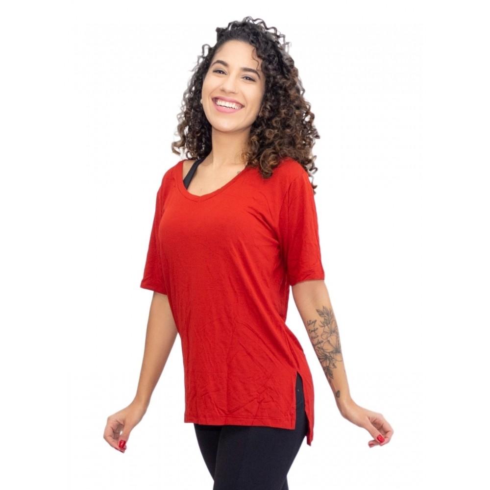 Camiseta Tapa Bumbum Manga Curta Vermelho Rubi