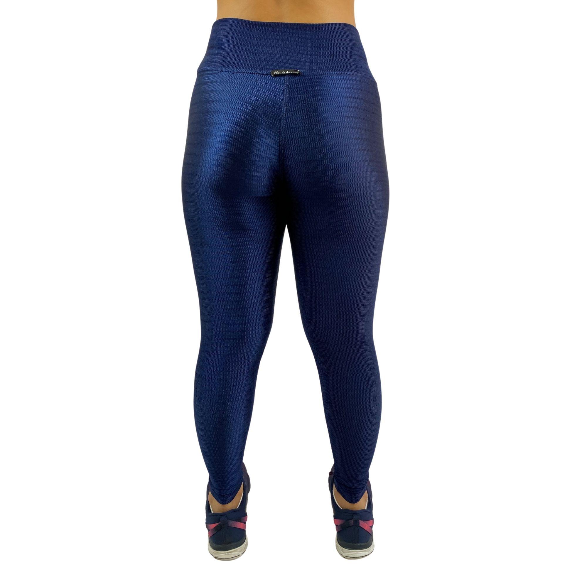 Conjunto Fitness Recomeço Magnetado Azul Marinho (Top+Calça)