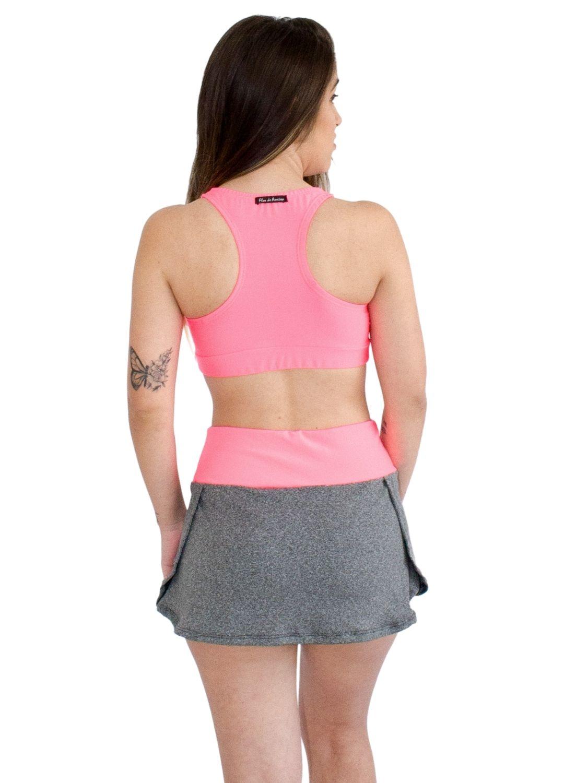 Conjunto Fitness Suplex Mescla Short Saia+Top Nadador