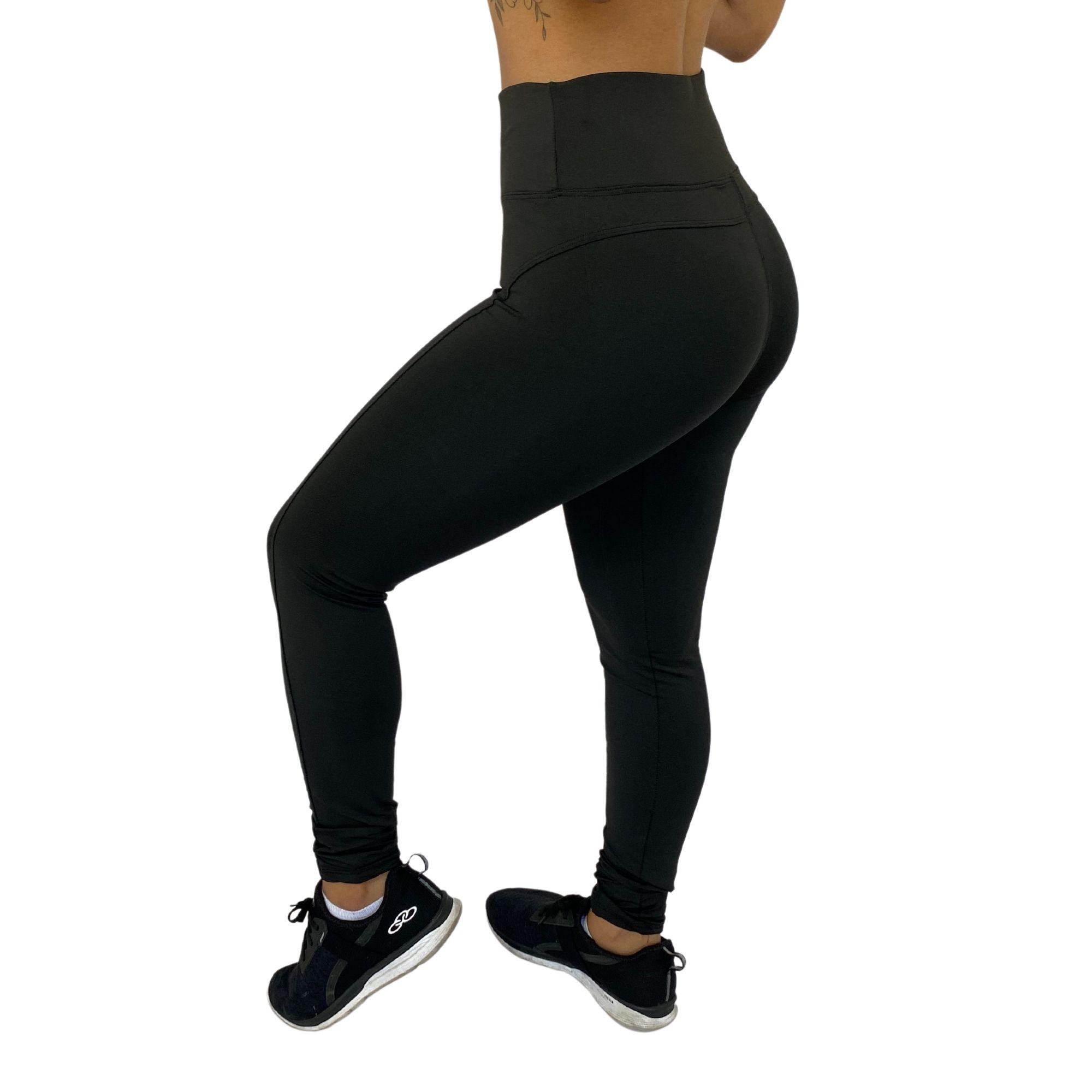 Kit 2 Calça Legging Feminina Montaria Cintura Alta