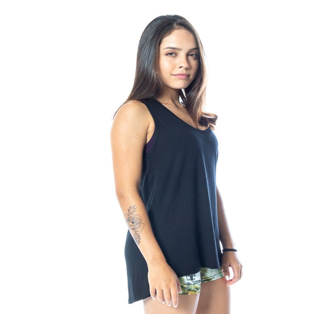 KIT 3 CAMISETA REGATA TAPA BUMBUM