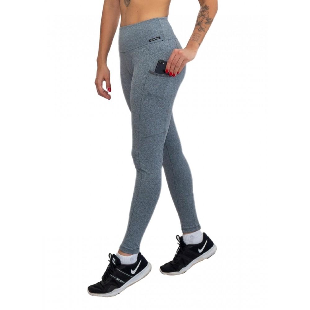 Kit 3 Calça Legging com Bolso Poliamida Maxx