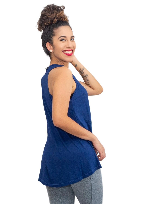 Regata Feminina Tapa Bumbum Azul Marinho