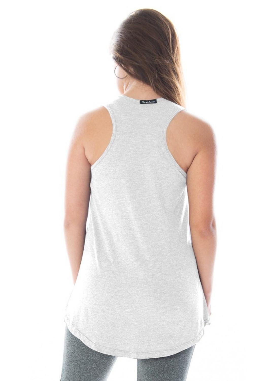 Regata Fitness Feminina Tapa Bumbum Branca