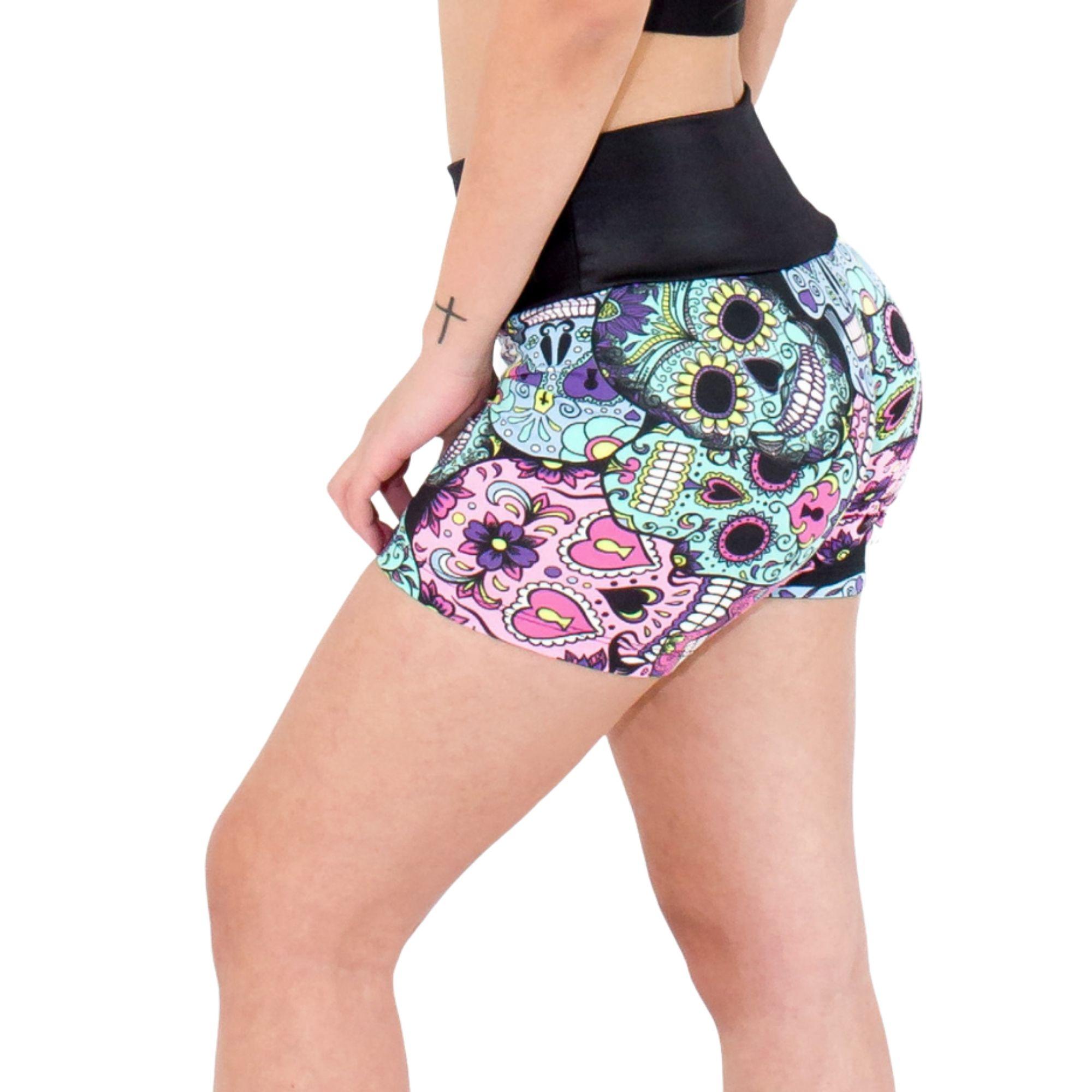Short Fitness Caveira Mexicana Katrina