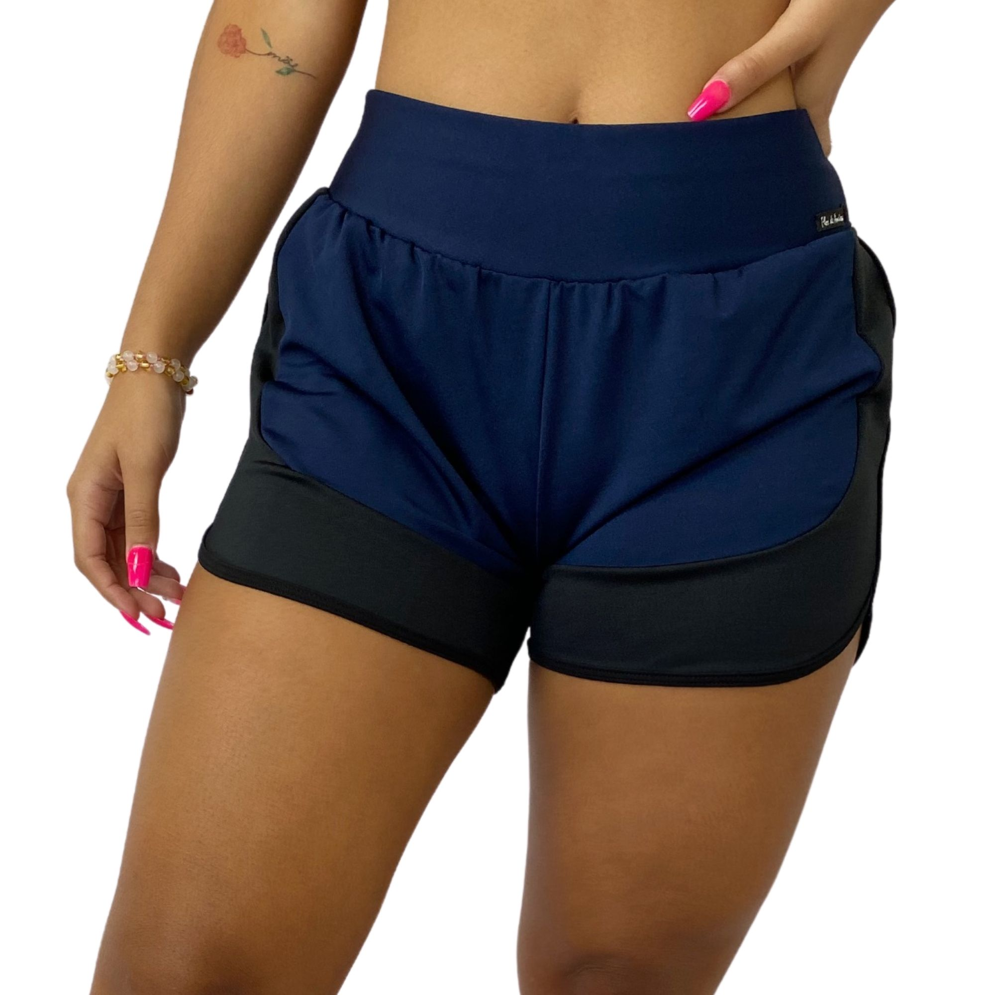 Short Fitness Feminino Corrida Azul Marinho