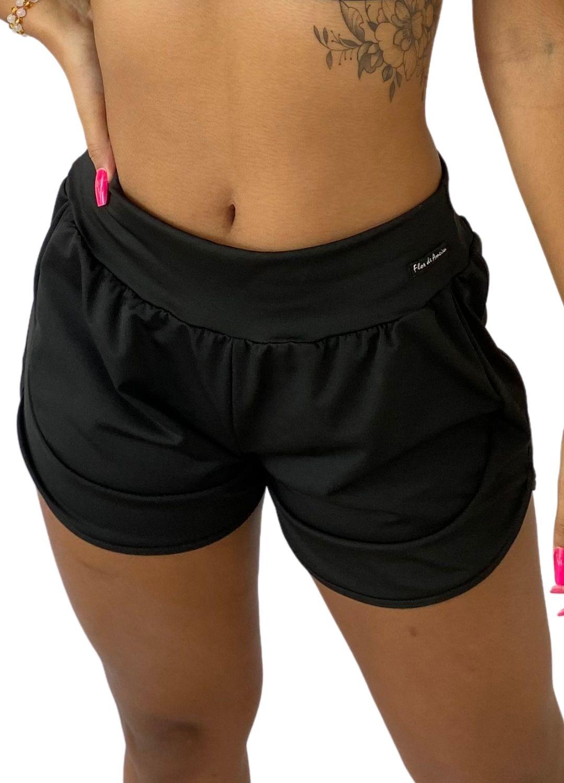 Short Fitness Feminino Corrida Preto