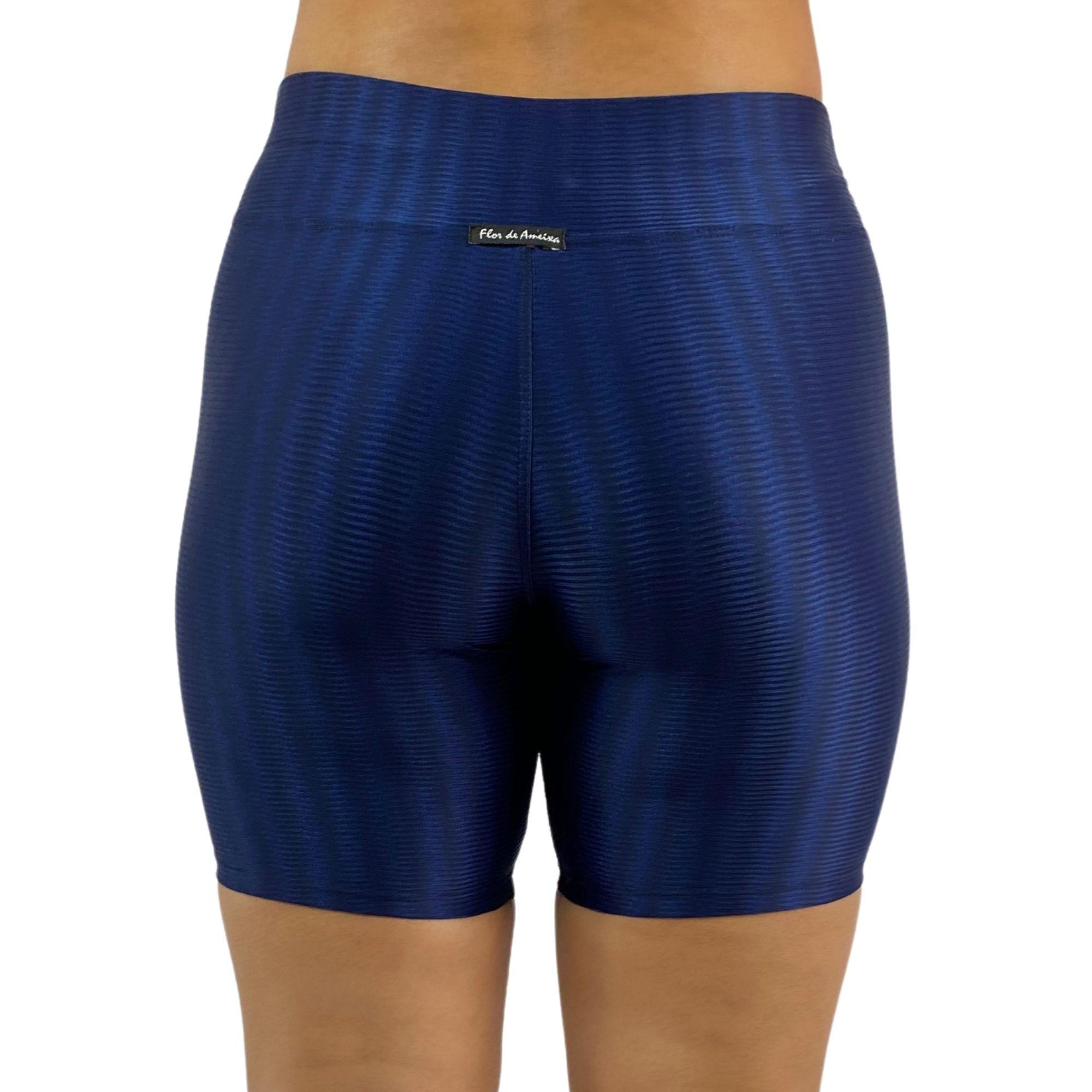 Short Fitness Recomeço Texturizado Azul Marinho