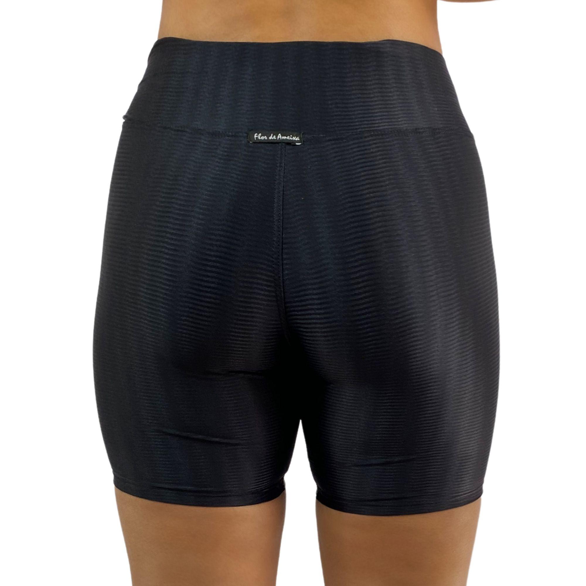 Short Fitness Recomeço Texturizado Preto