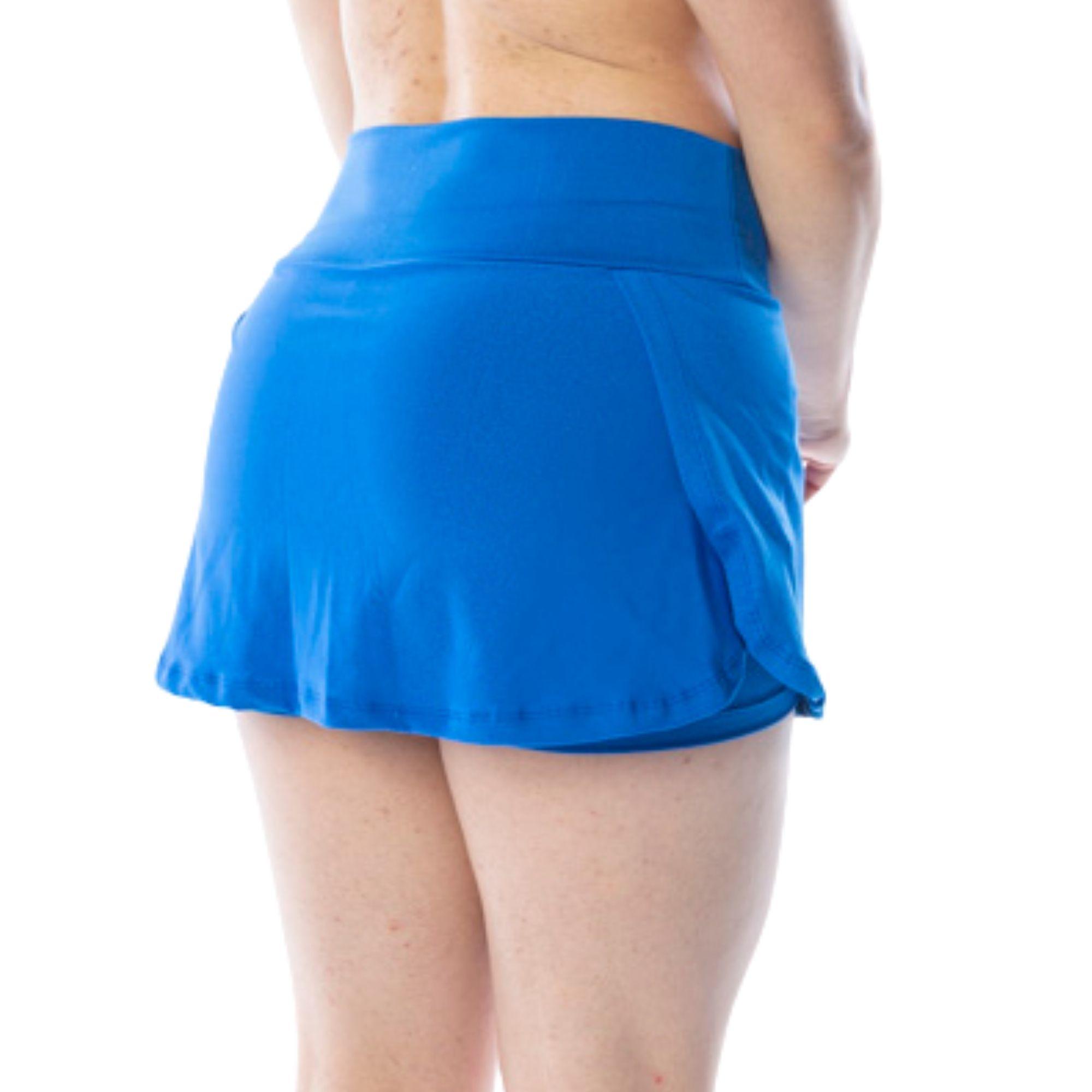 Short Saia Fitness Azul Royal
