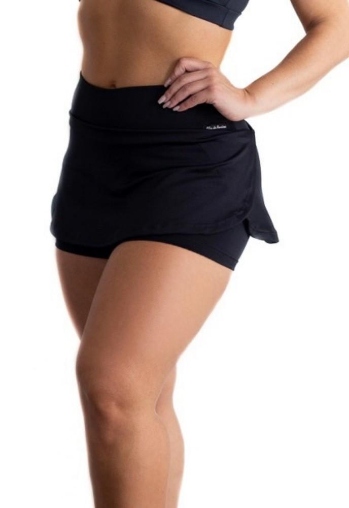 Short Saia Fitness Preta Suplex