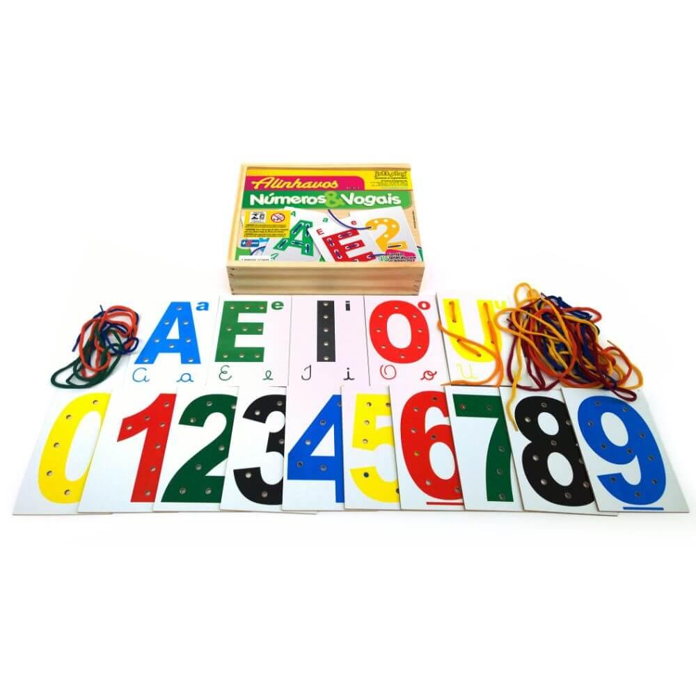 Alinhavando Ideias com os Números e Vogais 15 Placas