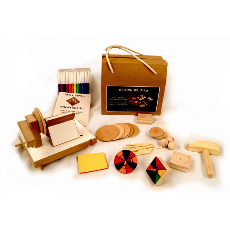 Brinquedo Educativo Oficina de Pião, DIY, Faça Você Mesmo