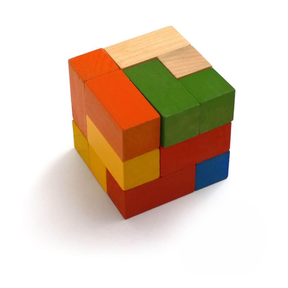 Cubo Quebra-Cabeças em Mosaico