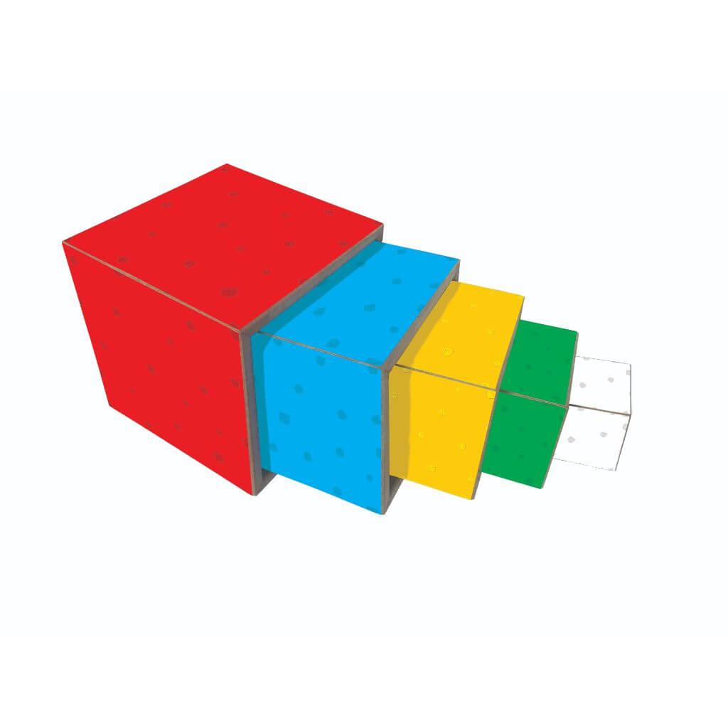 Cubos de Encaixe Coloridos com 5 andares