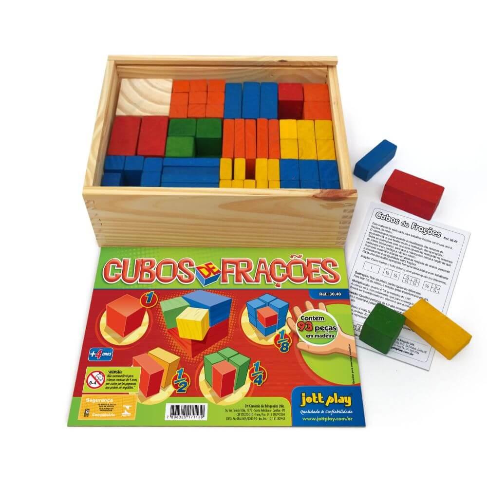 Cubos de Frações com 93 Peças