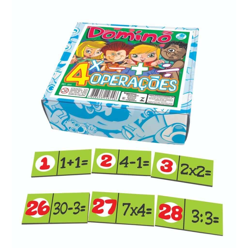 Dominó Matemático com as Quatro Operações