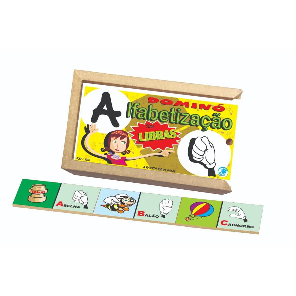 Dominó para Alfabetização com LIBRAS