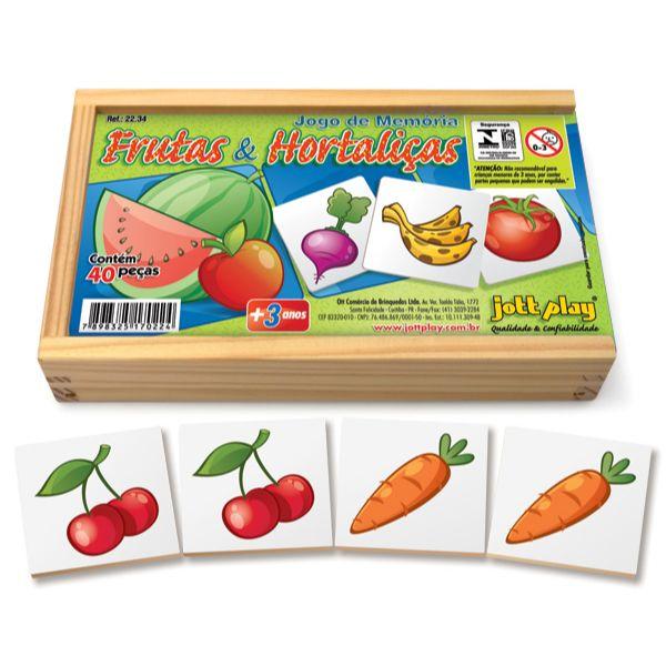 Jogo da Memória com Frutas e Hortaliças