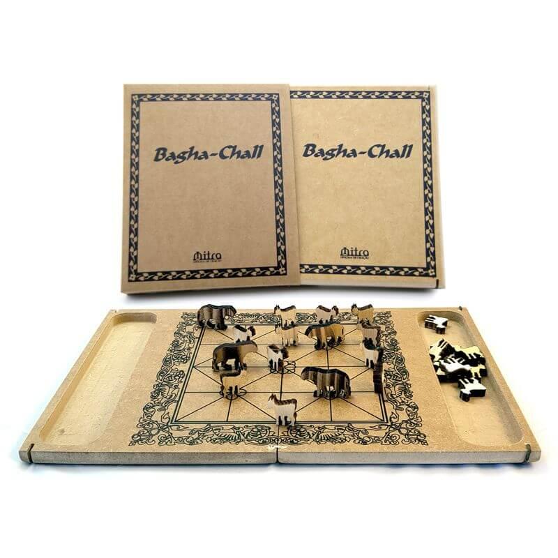 Jogo de Tabuleiro Bagha-Chall, Educativo de Estratégia e Raciocínio