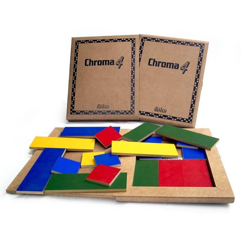Jogo de Tabuleiro Chroma 4, Educativo de Estratégia e Raciocínio