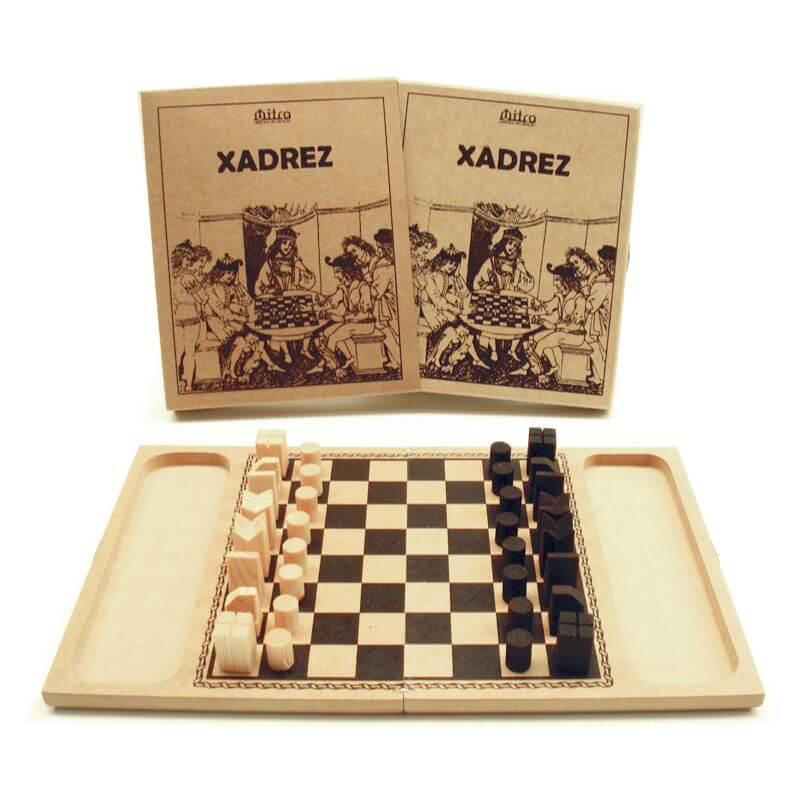Jogo de Tabuleiro Xadrez, Educativo de Estratégia e Raciocínio