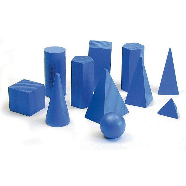Kit de Sólidos Geométricos com 11 Peças