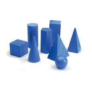 Kit de Sólidos Geométricos com 8 Peças