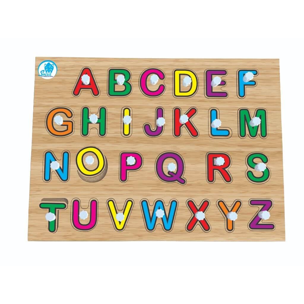 Quebra-Cabeça Alfabeto de Encaixe com Pinos