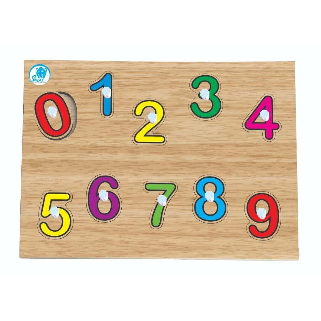 Quebra-Cabeça Números de Encaixe com Pinos