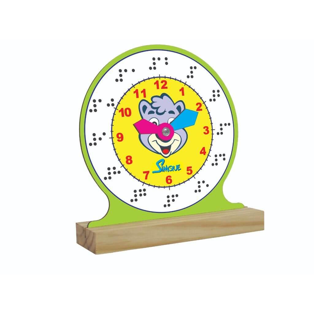 Relógio Aprendendo as Horas com Braille
