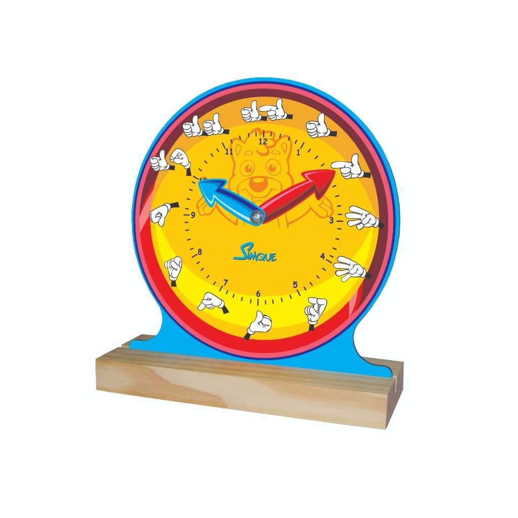 Relógio Aprendendo as Horas com LIBRAS