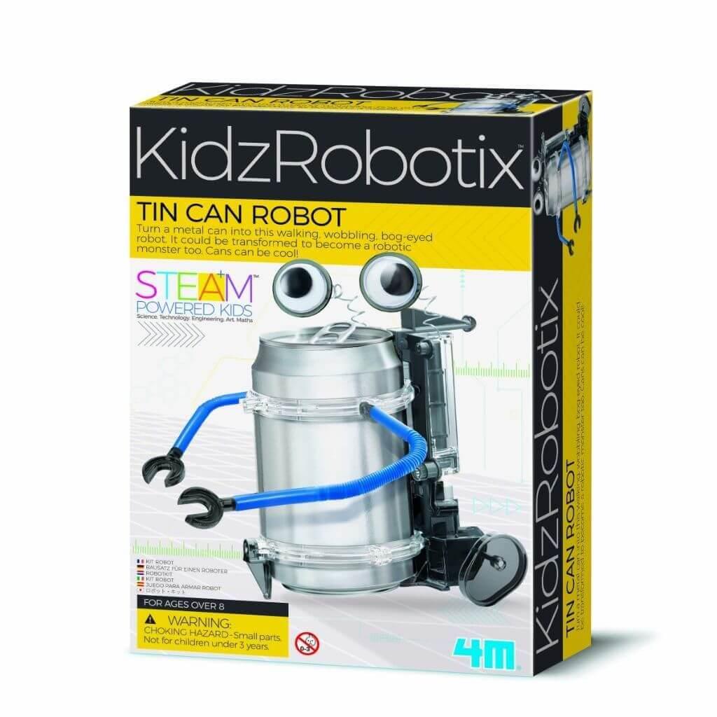 Robô de Latinha Kidz Robotix