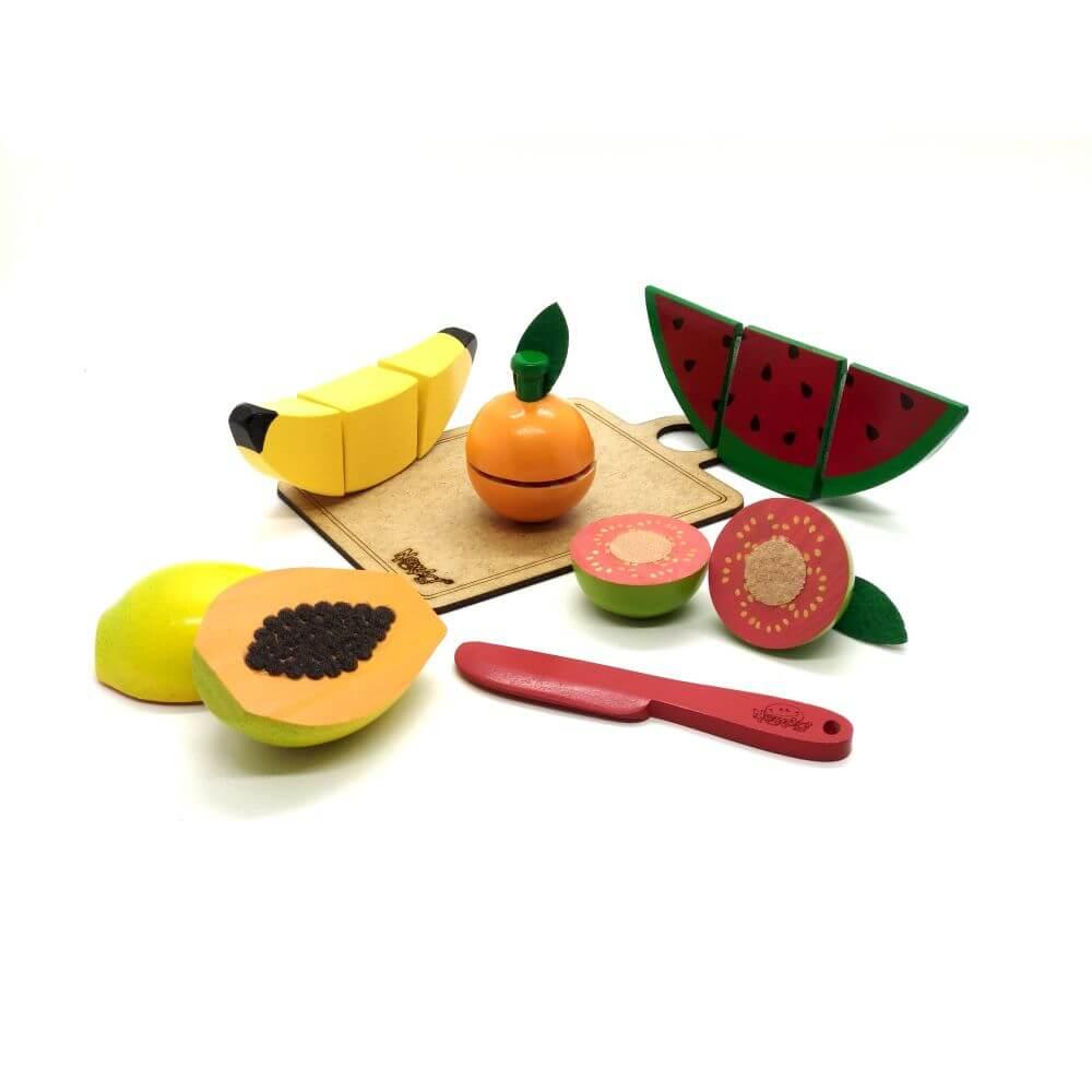 Salada de Frutas para Fatiar em Madeira