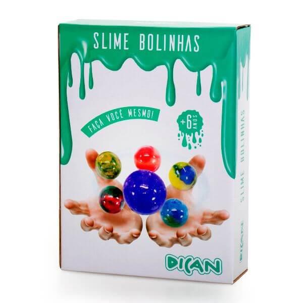 Slime Bolinhas com Seis Cores
