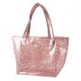 Bolsa De Praia Rosa Transparente Diamantes Jacki Design
