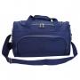 Bolsa De Viagem Em Amassadinho Azul Com Pompom Skeet