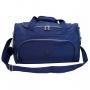 Bolsa Em Amassadinho Crinkle Com Pompom Azul e Squeeze Fitness Cinza