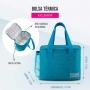 Bolsa Térmica Azul Alça de Mão Concept Com Marmita Dupla e Garrafa
