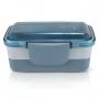 Bolsa Térmica Azul Com Marmita Dupla 950ml e Copo 430ml