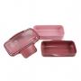 Bolsa Térmica Com Marmita Dupla, Copo E Porta Talheres Rosa Concept
