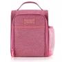 Bolsa Térmica Concept Rosa Com Alça de Mão e Garrafa Térmica em Inox
