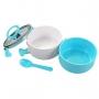 Bolsa Térmica De Mão Azul Concept Com Marmita Dupla e Squeeze