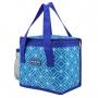 Bolsa Térmica de Mão Bolso Lateral Fresh Azul com Copo e Marmita Ecológica