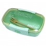 Bolsa Térmica de Mão Bolso Lateral Fresh Cinza com Copo e Marmita Ecológica